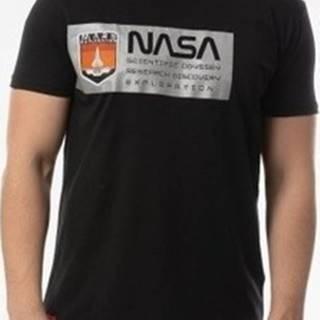 Trička s krátkým rukávem Nasa Mars Reflective T Černá