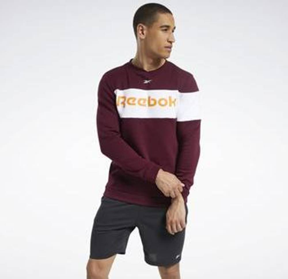 Reebok Sport Svetry Training Essentials Fleece Crew Sweatshirt Červená