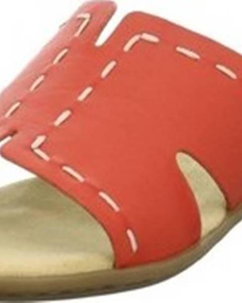Červené pantofle Rieker