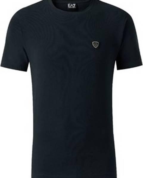Modré tričko Emporio Armani EA7