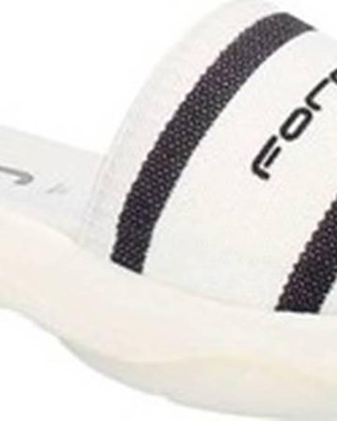 Bílé pantofle fornarina