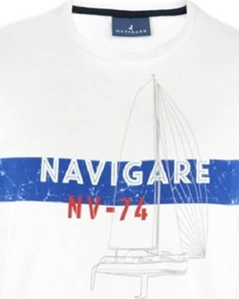 Bílé tričko Navigare