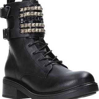 Kotníkové boty B19 GA77 Černá