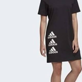 adidas Krátké šaty Šaty Must Haves Stacked Logo Černá