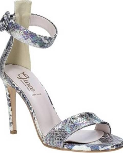 Stříbrné sandály Grace Shoes