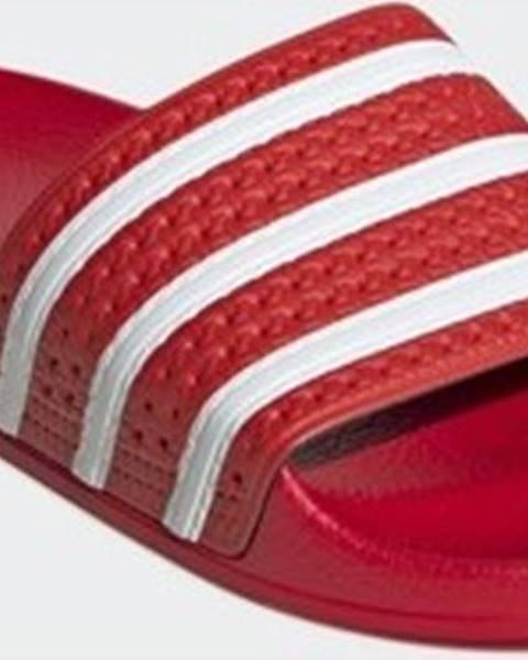 Červené pantofle adidas