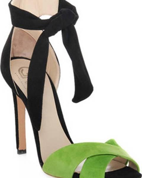 Zelené sandály Gianni Marra
