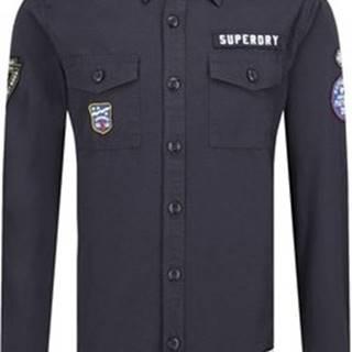 Košile s dlouhymi rukáv M4000013A Modrá
