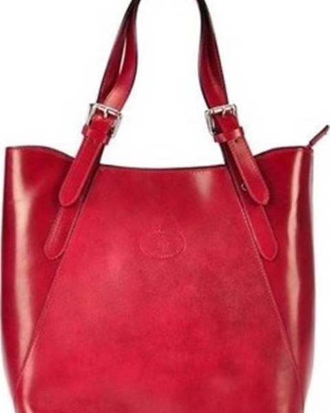 Červená kabelka Vera pelle