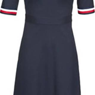 Krátké šaty PUNTO MILANO V-NECK DRESS SS Modrá