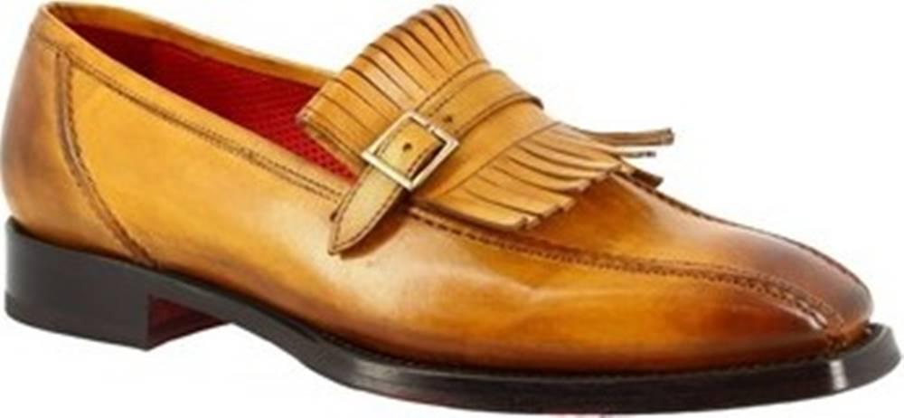 Leonardo Shoes Mokasíny 9573E20 TOM MONTECARLO AV GIALLO Žlutá