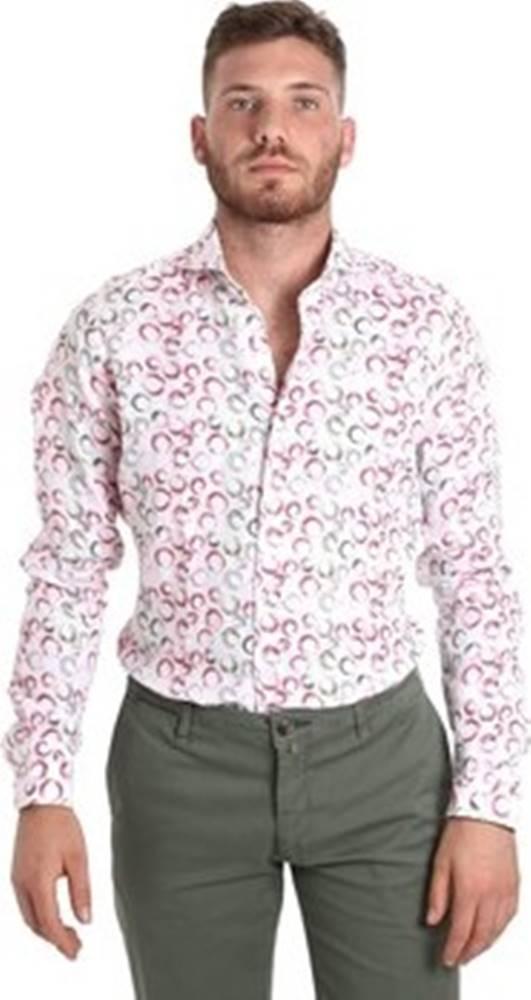 Barbolini Milano Košile s dlouhymi rukáv BMSHIBN26N Bílá