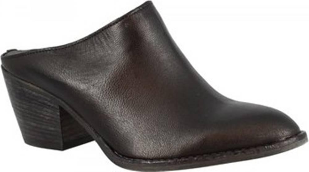 Leonardo Shoes Pantofle Z161 AMERICA NERO Černá