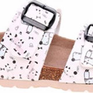 Dřeváky Dámské pantofle 203015 bílá-multi Bílá