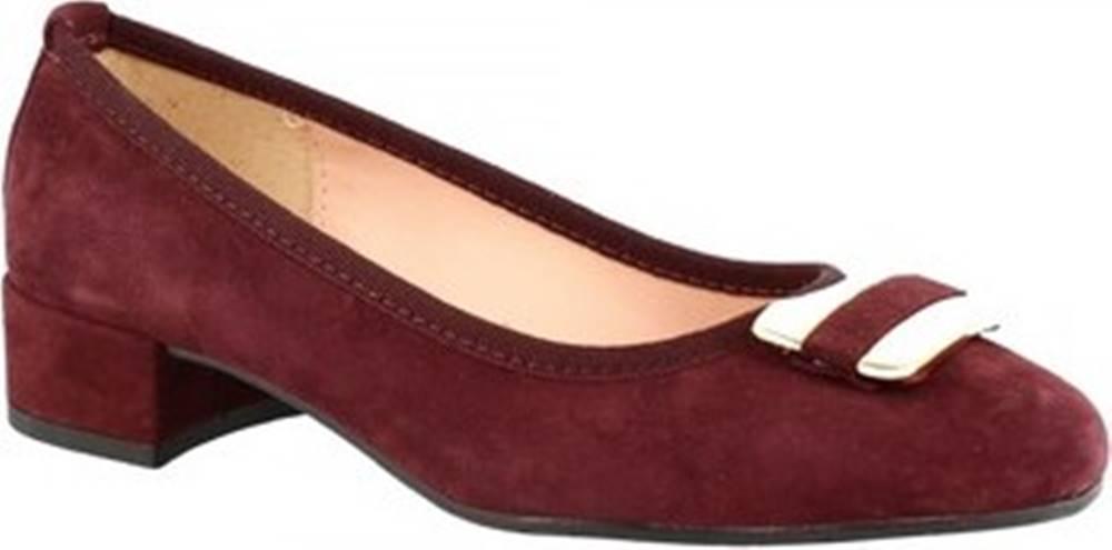 Leonardo Shoes Lodičky 2358 FX BORDO NERO Červená