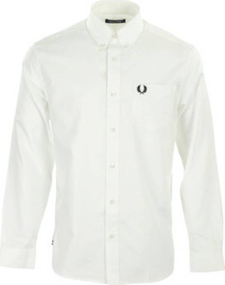 Fred Perry Košile s dlouhymi rukáv Oxford Shirt Bílá