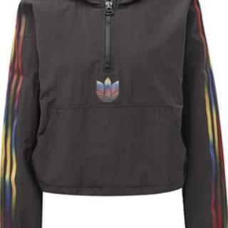adidas Mikiny Crop Top Adicolor Half-Zip Černá