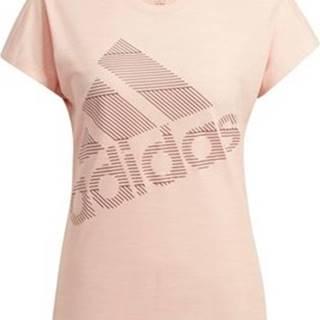 adidas Trička s krátkým rukávem Tričko Badge of Sport Růžová