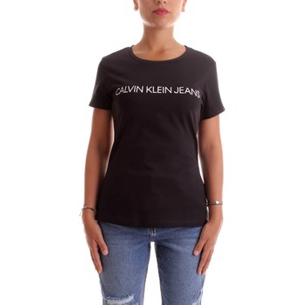 calvin klein jeans Trička s krátkým rukávem J20J207879 Černá