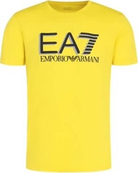 Žluté tričko Emporio Armani EA7