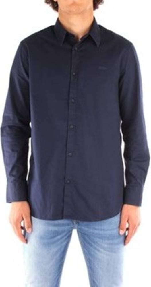 Guess Košile s dlouhymi rukáv M0YH20 Modrá