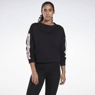 Mikiny Linear Logo Crew Sweatshirt Černá