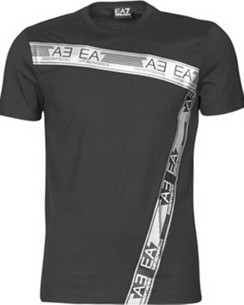 Černé tričko Emporio Armani EA7