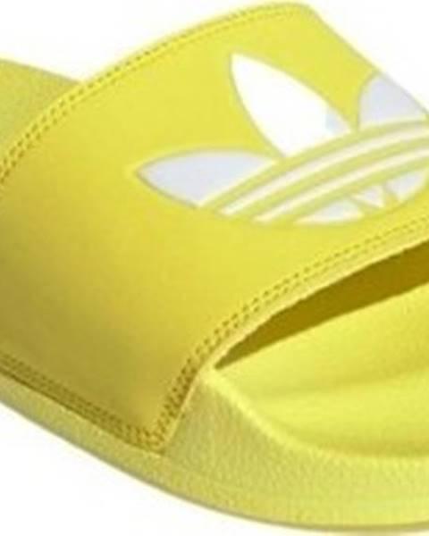 Žluté pantofle adidas