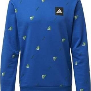 adidas Svetry Mikina Must Haves Graphic Crew Modrá