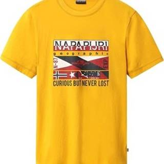 Napapijri Trička s krátkým rukávem NP0A4E36 Žlutá