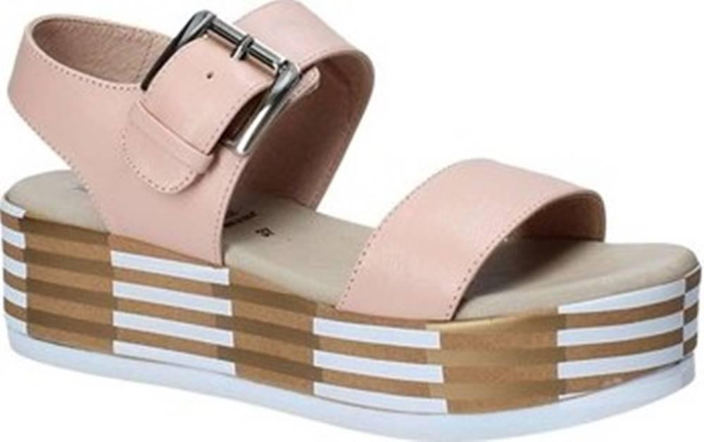 Grace Shoes Sandály 56252 Růžová