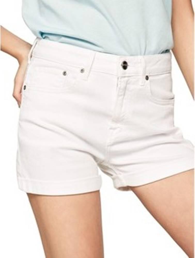 pepe jeans Pepe jeans Kraťasy & Bermudy PL800848TA2 Bílá