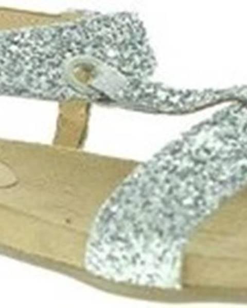 Stříbrné sandály Mally