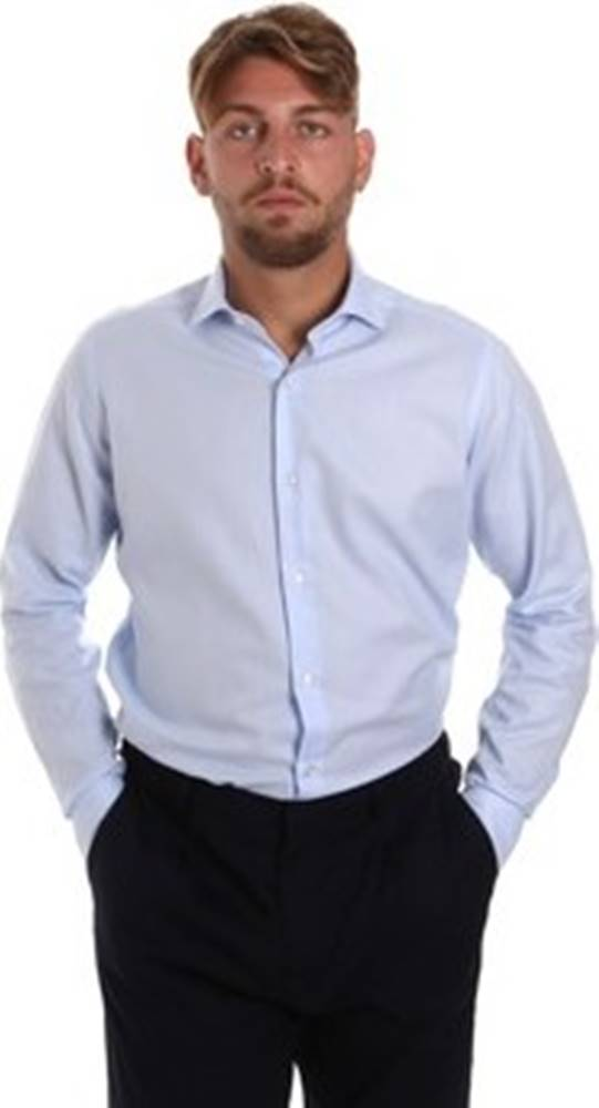 Les Copains Košile s dlouhymi rukáv 000.058 P3196SL Modrá