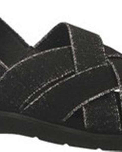 Černé sandály Enval