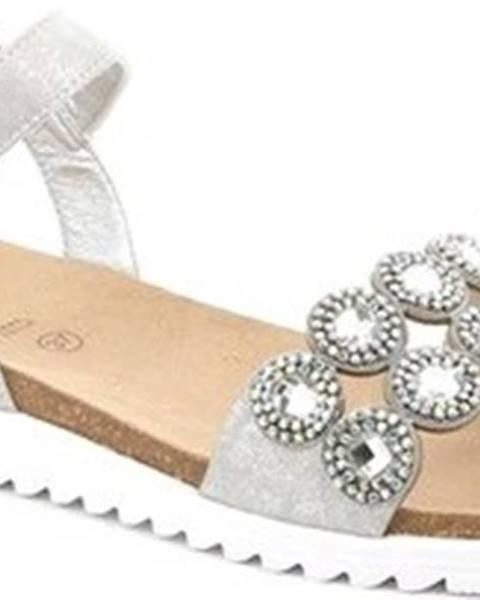 Stříbrné sandály Grunland