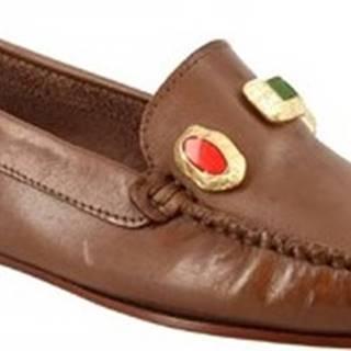 Sandály 558 VITELLO CAPPUCCINO Hnědá