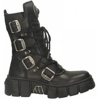 Kotníkové boty M-WALL028N-C1 CRUST Černá