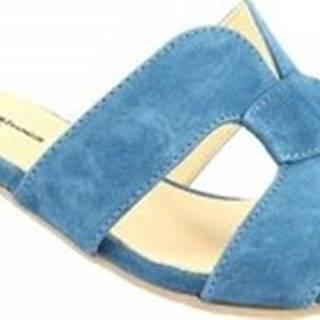 Sandály C559 CAMOSCIO PETROLIO Modrá