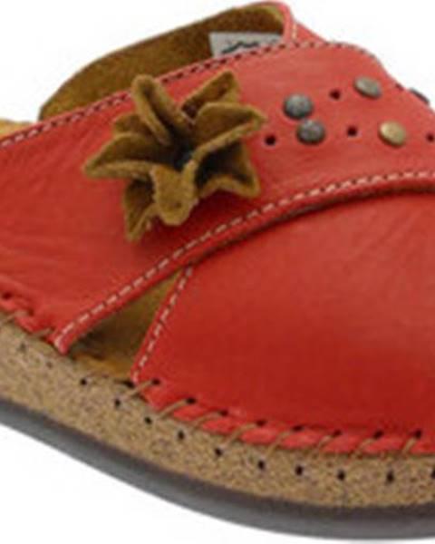 Červené pantofle De Fonseca