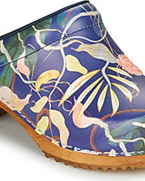 Modré pantofle Sanita