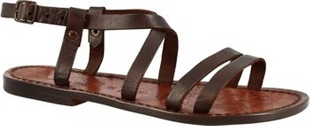 Leonardo Shoes Sandály 531 T.MORO DONNA Hnědá