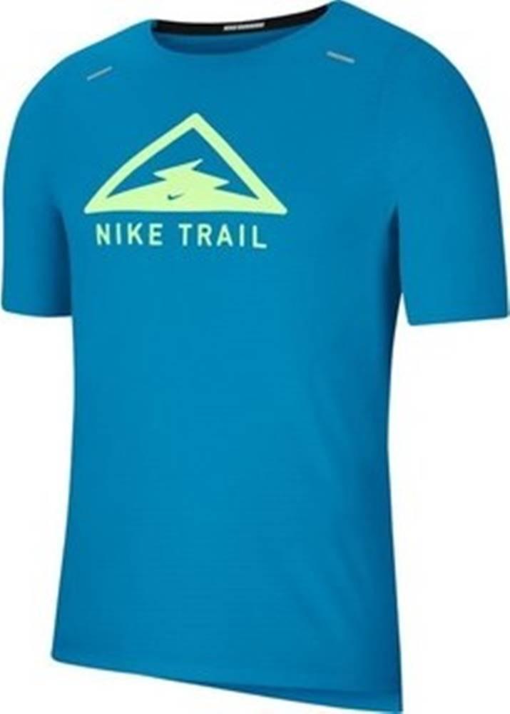 nike Trička s krátkým rukávem Rise 365 Top Trail M Modrá