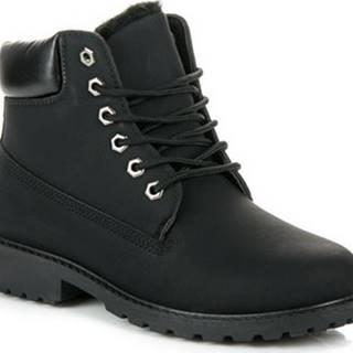 Boshimao Kotníkové boty Stylové černé farmery na šněrování ruznobarevne
