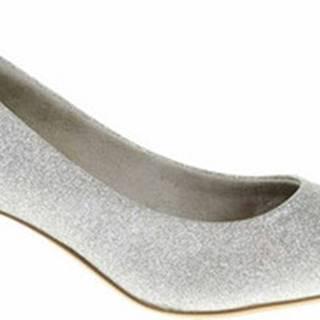 Lodičky Dámské lodičky 1-22415-25 silver glam Stříbrná