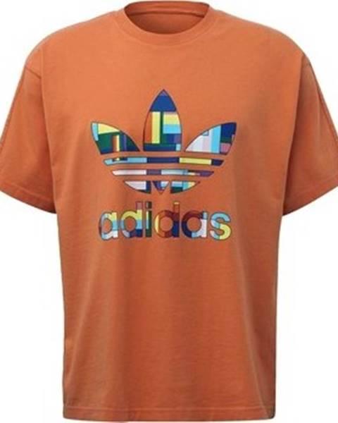 Oranžové tričko adidas