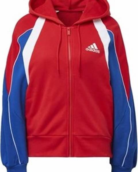 Červený svetr adidas
