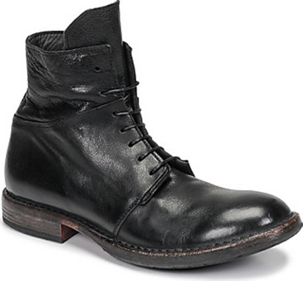 Moma Kotníkové boty MINSK Černá