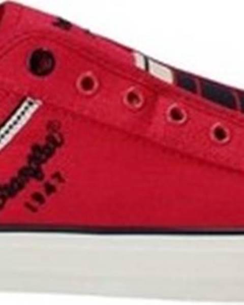 Červené boty wrangler