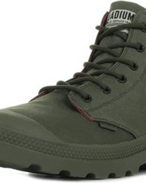 Zelené boty Palladium